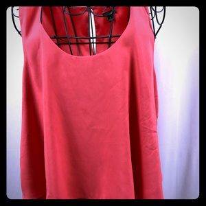 Ann Taylor sleeveless sheer layered top M